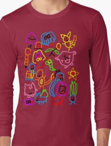 Poorly Drawn Pokemon Long Sleeve T-Shirt