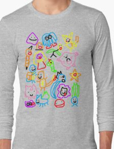 Poorly Drawn Pokemon Long Sleeve T-Shirt