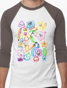 Poorly Drawn Pokemon Men's Baseball ¾ T-Shirt