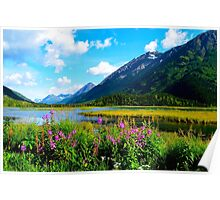 God's Country - Summer in Alaska Poster