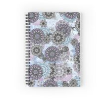 Blue Mandala Print Spiral Notebook