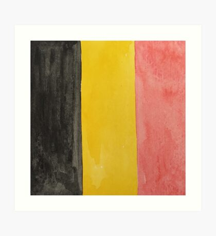 Belgium National Flag  BelgianTricolore Black, Yellow and Red Art Print