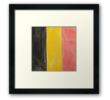 Belgium National Flag  BelgianTricolore Black, Yellow and Red Framed Print