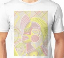 Modern girl in pale Unisex T-Shirt