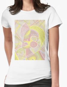 Modern girl in pale Womens Fitted T-Shirt