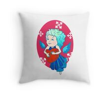 Cute angel with red heart Throw Pillow