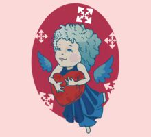 Cute angel with red heart One Piece - Long Sleeve