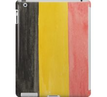 Belgium National Flag  BelgianTricolore Black, Yellow and Red iPad Case/Skin