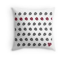 Costa Coffee Beans Throw Pillow