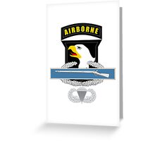 101st Airborne CIB Greeting Card