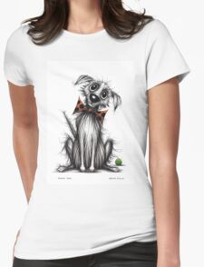 Funky dog Womens Fitted T-Shirt
