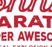 Johnny karate  Sticker
