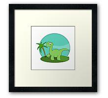 Cartoon Brontosaurus Framed Print