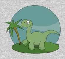 Cartoon Brontosaurus One Piece - Short Sleeve