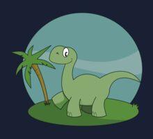 Cartoon Brontosaurus Kids Tee