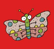 Cartoon Butterfly One Piece - Short Sleeve