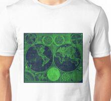 World Map (1794) Blue & Green  Unisex T-Shirt