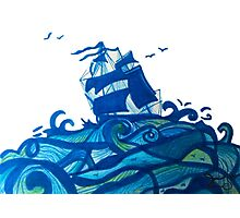 shipping through blue seas Photographic Print