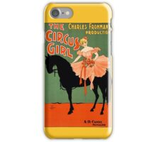 The circus girl, black horse, vintage antique advertisement iPhone Case/Skin