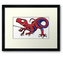 The Amazing Spideraptor! Framed Print