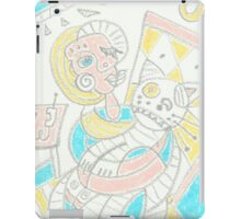 Cubism girl with cat iPad Case/Skin
