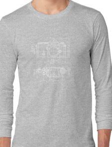 Vintage Photography: Nikon Blueprint Long Sleeve T-Shirt