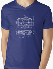 Vintage Photography: Nikon Blueprint Mens V-Neck T-Shirt