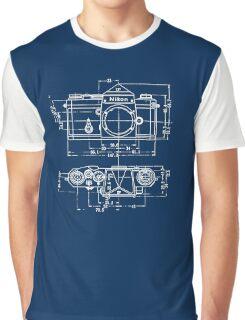 Vintage Photography: Nikon Blueprint Graphic T-Shirt