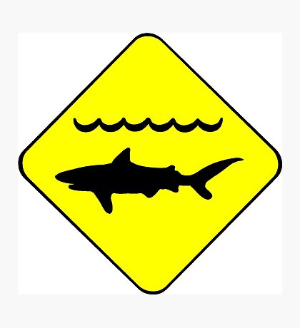 Warning Sharks Symbol Photographic Print