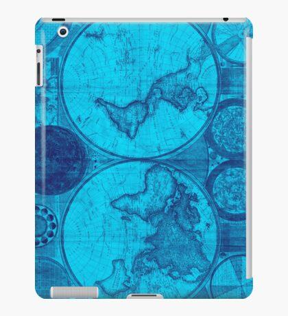 World Map (1794) Light Blue & Blue  iPad Case/Skin