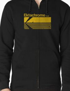 Vintage Photography: Kodak Ektachrome - Yellow Zipped Hoodie