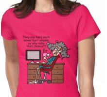 Funny Stella Hard Work Humor Womens Fitted T-Shirt