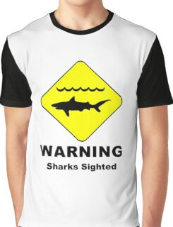 Sharks Sighted Symbol Graphic T-Shirt