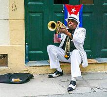 Trumpet Street Performer in Havana by Robert Kelch, M.D.