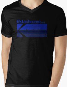 Vintage Photography: Kodak Ektachrome - Blue Mens V-Neck T-Shirt