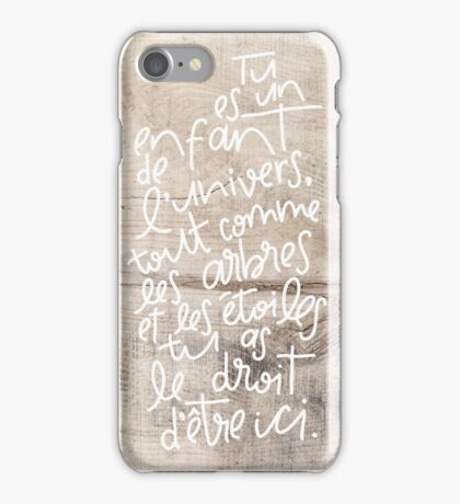 Desiderata sur bois iPhone Case/Skin