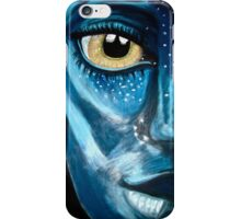 Blue oil pastel inspired by Avatar iPhone Case/Skin