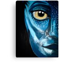 Blue oil pastel inspired by Avatar Canvas Print