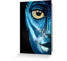 Blue oil pastel inspired by Avatar Greeting Card