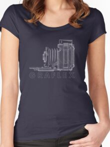 Vintage Photography - Graflex Blueprint (Version 2) Women's Fitted Scoop T-Shirt