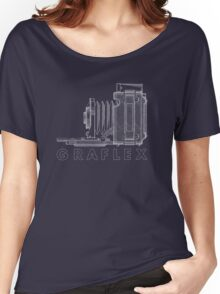 Vintage Photography - Graflex Blueprint (Version 2) Women's Relaxed Fit T-Shirt