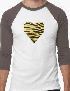 0449 Jonquil, Naples Yellow, Royal Yellow, Antimony Yellow, Stil de grain Yellow Tiger Men's Baseball ¾ T-Shirt