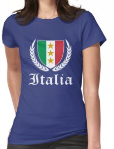 Italia Crest  Womens Fitted T-Shirt