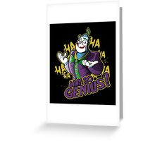 Why So Genius? Greeting Card