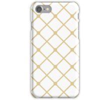 Cross hatch in Gold Pattern iPhone Case/Skin
