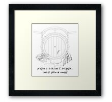 Hobbit Hole Framed Print
