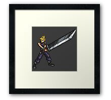FFRK Boss Sprite - Cloud Strife (FF7) Framed Print