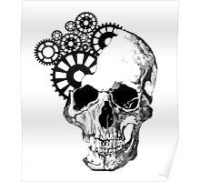 Clockwork Skull Poster