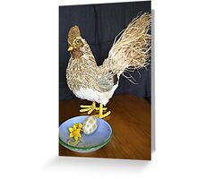 Easter straw chick Greeting Card