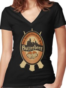 Harry Potter - Butterbeer Women's Fitted V-Neck T-Shirt